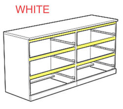 1 X Ikea White Front Inner Support For Malm Dresser/chest Of Drawers
