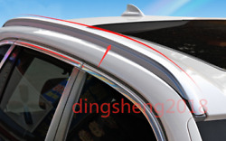 2pcs Exterior Stainless Steel Roof Rails Rack Rails Bars Carrier For Bmw X5