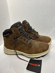 Gently Used Wolverine Menandrsquos Shoes Boots Shiftplus Mid Lx Brown Work Boot Size 13