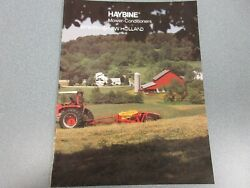 New Holland Haybine Mower-conditioner Full Line Sales Brochure 16 Pages
