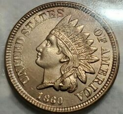 1860 Indian Head Cent Uncirculated
