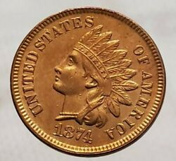 1874 Indian Head Cent Uncirculated