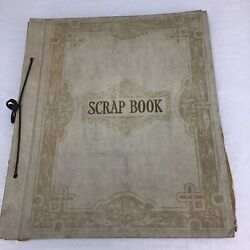 Four Vintage Early 1940's Restaurant Menus In A Scrapbook With Bonus Items