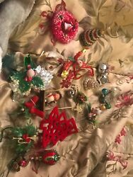 Antique Christmas Ornaments For Projects Clowns, Bottle Brush Wreath And More