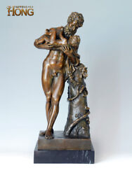 22and039and039 Art Deco Sculpture Greek Myth Father Man Hold Child Bronze Statue