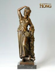 23and039and039 Art Deco Sculpture Woman Harvest Fruit Statue