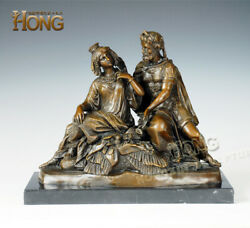 16and039and039 Art Deco Sculpture Greek King And Queen Lovers Bronze Statue