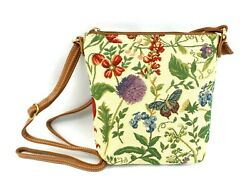 Morning Garden Crossbody Purse Floral Tapestry Print Hipster Shoulder Handbag $17.99