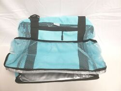 Beach Bag with Insulated Cooler Many Pockets Large Capacity Durable Sand Proof $17.98