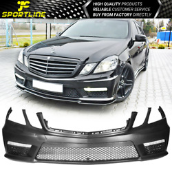 Fits 10-13 Mercedes Benz E Class W212 Amg Style Front Bumper Cover With Led Drl