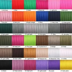 250 Colors Paracord 550 Rope Type Iii 7 Stand 100ft 50ft Paracord Survival Kit