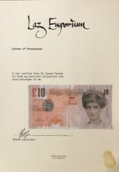 Banksy Di Faced Tenner With Latest Laz Emporium Provenance Not Framed