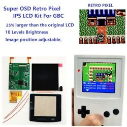 Retro Pixel Large Size Ips Backlight Lcd Screen For Game Boy Color Gbc Console