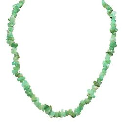Premium Charged 18 Chrysoprase Crystal Chip Necklace + Selenite Puffy Heart