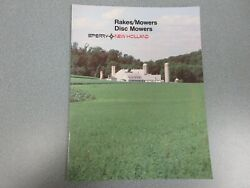New Holland Rakes, Mowers, Disc Mowers Sales Brochure 16 Pages