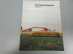 New Holland 114 Pivot-tongue Windrower Sales Brochure 8 Pages