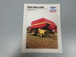 New Holland D1000 2x3x8 Square Baler Sales Brochure 8 Pages