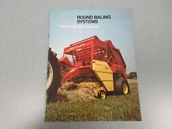 New Holland Round Baling Systems Sales Brochure 12 Pages