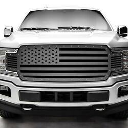 Steel Aftermarket Grille For 2018-2020 Ford F-150 Usa American Flag Straight
