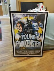 Young Frankenstien Movie Poster..and Vhs Movie