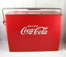 Vintage 1953 Coca Cola Coke Airline Airplane Cooler In French