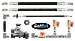 Food Truck Trailer Concession Propane Supply Kit Two Appliances Manifold 2 Hoses