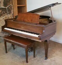 Antique Kimball 1935 Baby Grand Piano With Bench