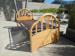 Bellini Twin Size Bed Headboard/footboard, Solid Maple, Made In Italy, Local Pu