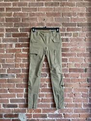 Womenandrsquos Military Chino Pants Skinny Sz 2 Faded Olive Green