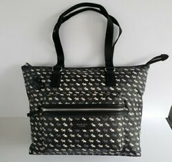 Radley London Black Multi Dog Large Ziptop Laptop Tote - Brand New With Tags