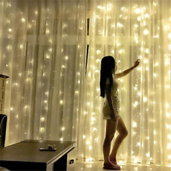 Bright Christmas Led Curtain Lights 18m X 3m 1800-led - Free Shipping Usa Only