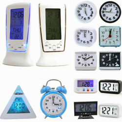 Digital Electronic Small Alarm Clock Bedside LED Backlight Battery Operated