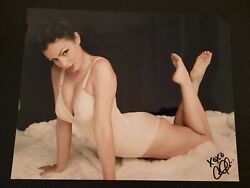 Aria Giovanni Authentic Signed Photo - Sexy Model Pinup Shot Autographed 8 X 10