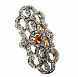 Diamond Pave Ring 14k Gold Antique Style 925 Silver Ring Fine Jewelry Dj