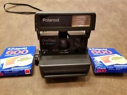 Polaroid One Step Close Up 600 Instant Film Camera With Strap Tested Works