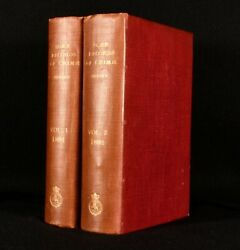 1892 2vol Some Records Of Crime General Charles Hervey Very Scarce 1st