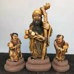 Chinese Shoushan Stone Hand-carved Exquisite A Set Statue ˈseals 1617