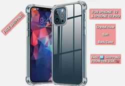 For Apple Iphone 12 12 Pro 100 Pieces Clear Case Soft Shockproof Ultra Slim Case