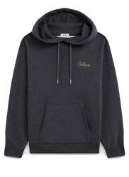 Bnwt Sold Out Celine Dark Grey Embroidered Oversized Sweatshirt Hoodie Small
