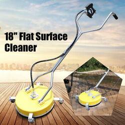 18 Inch Flat Pressure Washer Surface Cleaner Attachment Wash Driveway Concrete