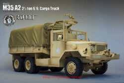 Go-truck 1/6 Full Metal Us Army M35 A2 Truck 2.5ton Truck Model For 12and039and039 Instock