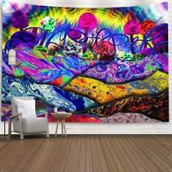 Trippy Bohemian Mandala Gypsy Tapestry Wall Hanging Blanket Cover Home Decor US