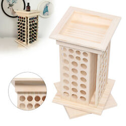 Wooden Rotating Essential Oil Bottle Holder Classification Display Stand Rack