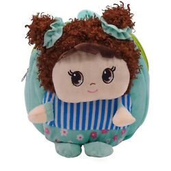 Plush Toddler Backpack Preschool Curly Doll Girl Backpack for Girls 3 6 Year Old $9.85