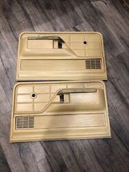 1973-1979 Ford Truck Door Panel Set White Tan Arm Rest
