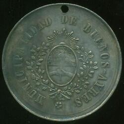 41 Years Of Argentina Independence Silver Medal 1857 School Application Award