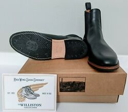 Nwb Red Wing Williston Chelsea Boot 9438 In Black Featherstone Leather Men's 11d