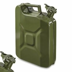 Jerry Can Gas Container Steel Us Army Green Military Style 10 Liter 2.5 Gallon