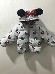 Minnie Mouse Infant Girls Size 12-18 Month Hooded Puffer Jacket