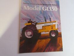Rare Minneapolis Moline G1350 Tractor Yellow Color Brochure From 1972